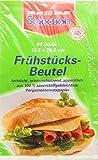 60 Stück Butterbrot - Beutel/Frühstückstüten (Fettdicht + Aromaschützend / 19,5 x 20,5 cm)